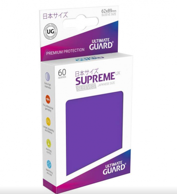 Ultimate Guard Supreme UX Sleeves Japanese Size Purple