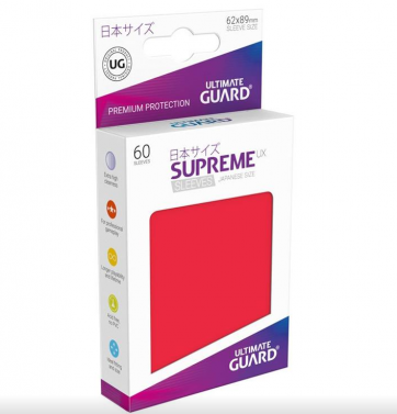 Ultimate Guard Supreme UX Sleeves Japanese Size Red