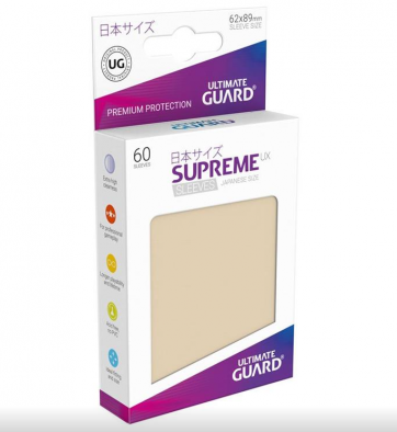 Ultimate Guard Supreme UX Sleeves Japanese Size Sand